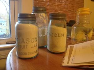 Antique Mason jars