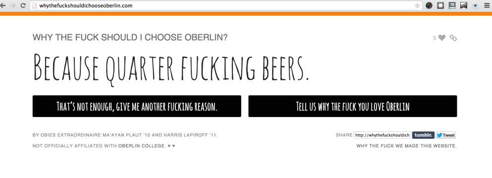 Why should I choose Oberlin?