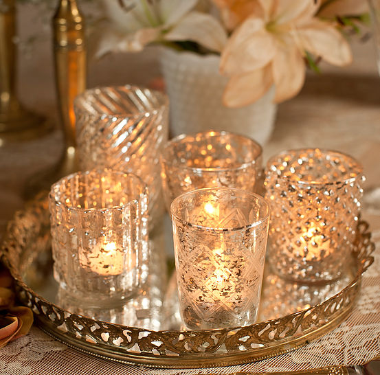 Stunning mercury votives available at Make Merry: http://www.makemerry.ca/#!mercury-glass-votives/c23ed